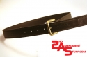 Double layer leather belt with Kydex reinforcement wlogo